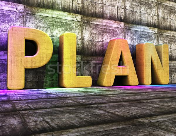 Plan Word Indicates Proposal Mission And Tasks Stock photo © stuartmiles