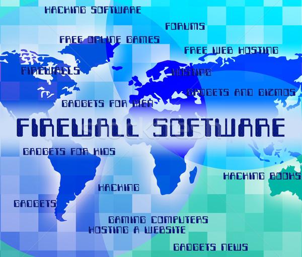 Firewall oprogramowania nie dostęp aplikacja ognia Zdjęcia stock © stuartmiles