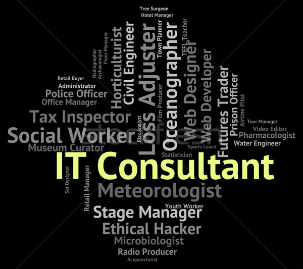 It Consultant Indicates Information Technology And Advisers Stock photo © stuartmiles