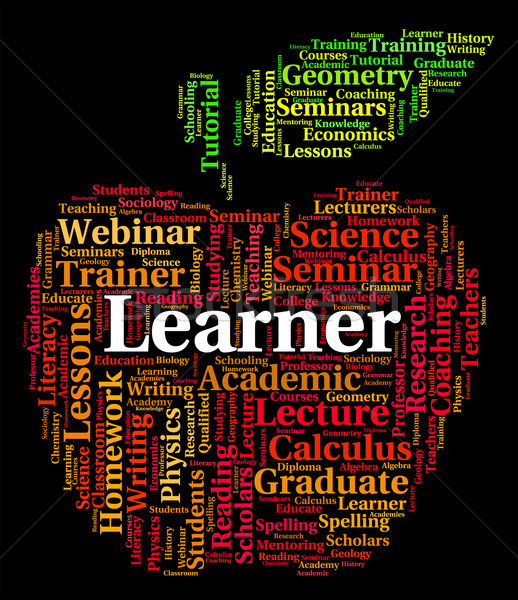 Learner Word Shows Study Studying And Education Stock photo © stuartmiles