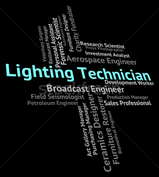 Beleuchtung Techniker qualifizierte Arbeitnehmer Arbeit Lichter Stock foto © stuartmiles