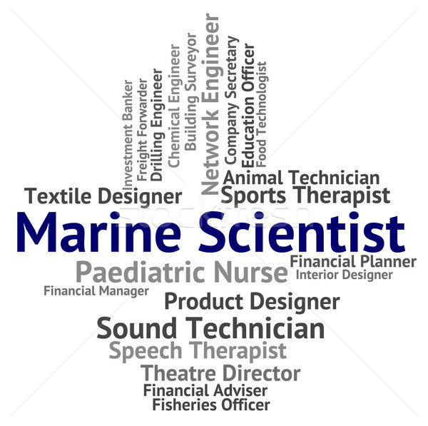 Marine Scientist Shows Sea Recruitment And Hire Stock photo © stuartmiles