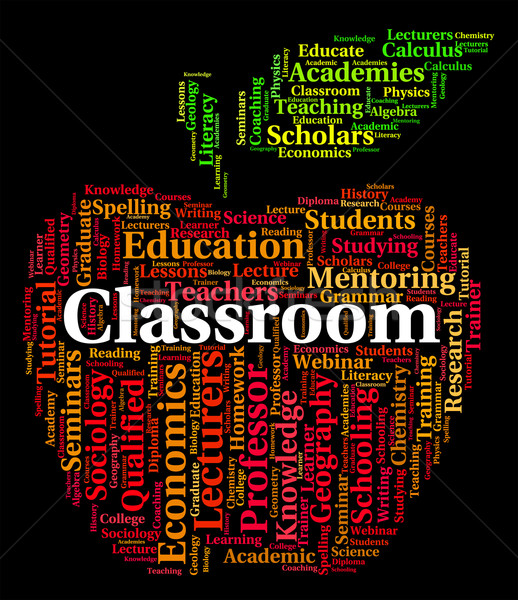 Classroom Word Means Schools School And Text Stock photo © stuartmiles