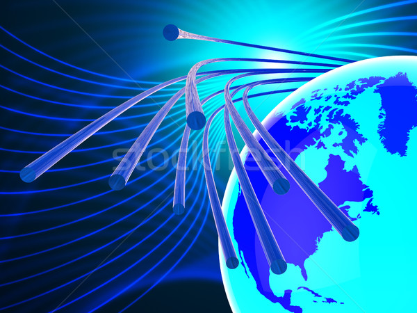 Optical Fiber Network Represents World Wide Web And Communicatio Stock photo © stuartmiles