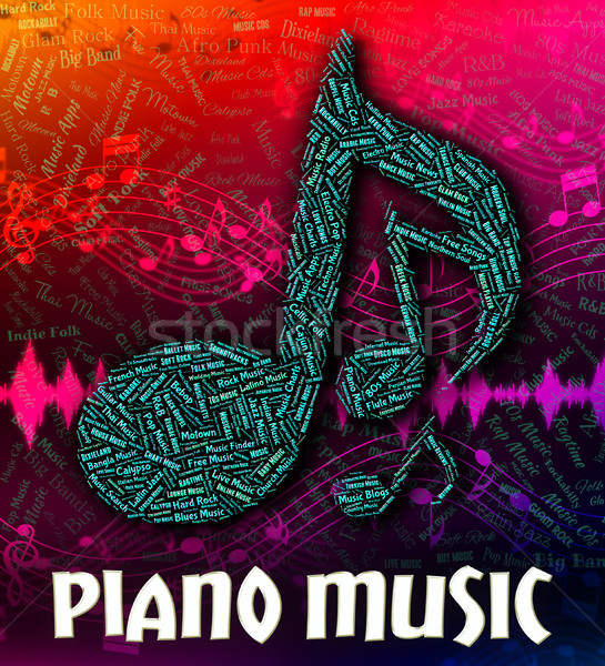 Piano Music Represents Keyboard Harmonies And Melody Stock photo © stuartmiles