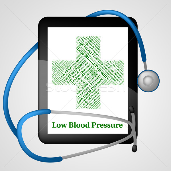 Stock photo: Low Blood Pressure Represents Ill Health And Ailment