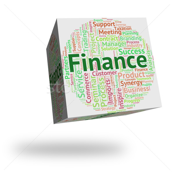 Finance Word Shows Text Earnings And Trading Stock photo © stuartmiles