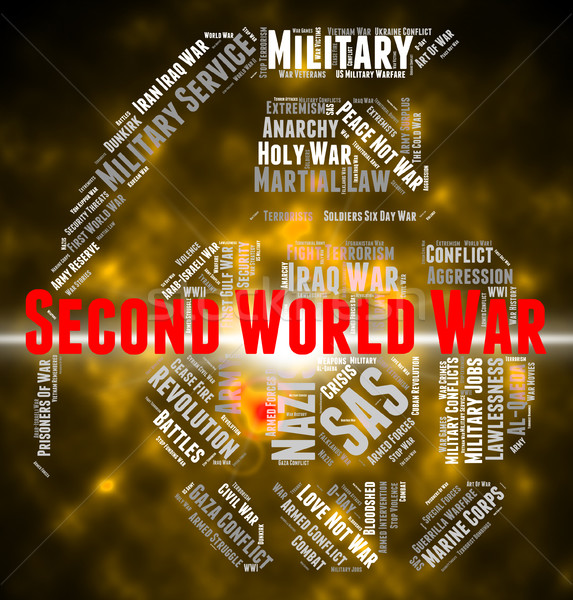 Second World War Shows Allies Text And Bloodshed Stock photo © stuartmiles