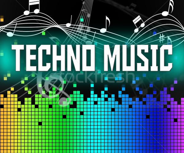 Techno muziek geluid track dans elektrische Stockfoto © stuartmiles