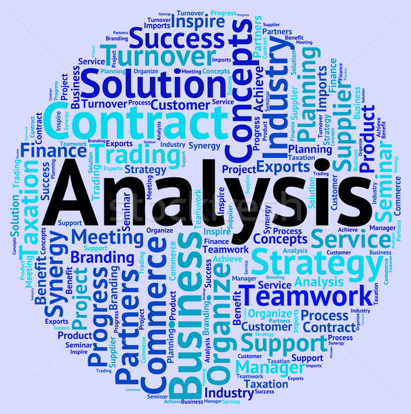 Analyse mot données analytics mots Photo stock © stuartmiles