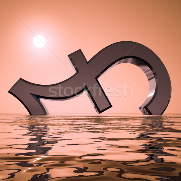 Pound Sinking And Sunset Showing Depression Recession And Econom Stock photo © stuartmiles