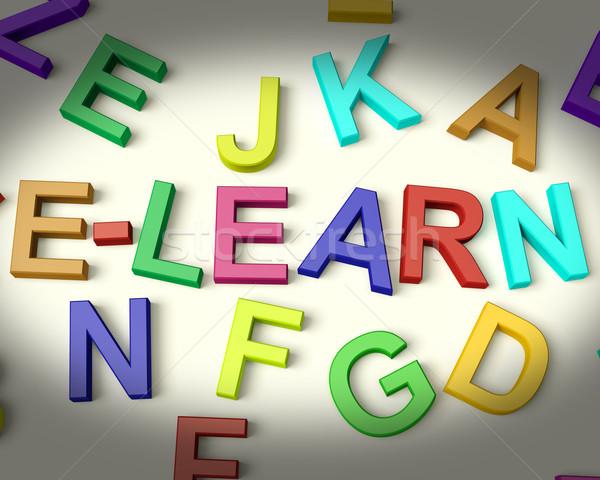 Stok fotoğraf: Yazılı · plastik · çocuklar · harfler · Internet