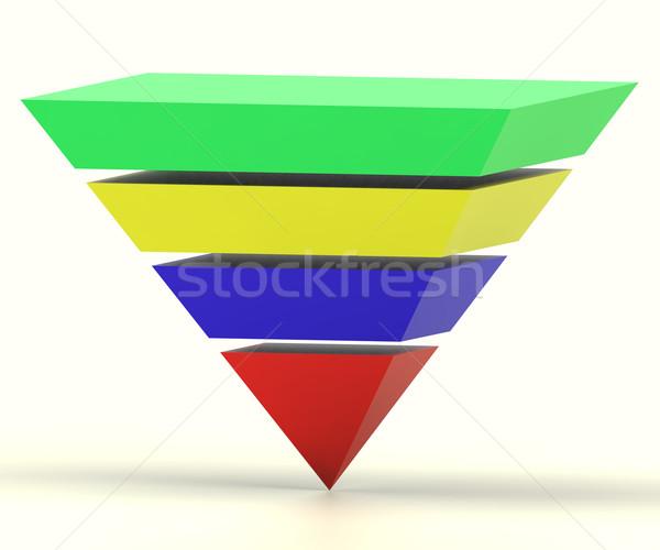 Pyramide hiérarchie progrès graphique Photo stock © stuartmiles