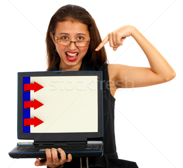 Stock photo: Three Arrows For Online Presentation List