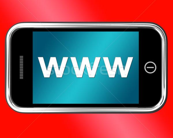 Www online websites internet tonen Stockfoto © stuartmiles