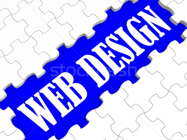 Web Design Puzzle Shows Website Concept Stock photo © stuartmiles