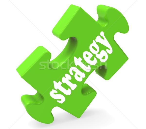 Сток-фото: стратегия · бизнеса · решения · кусок