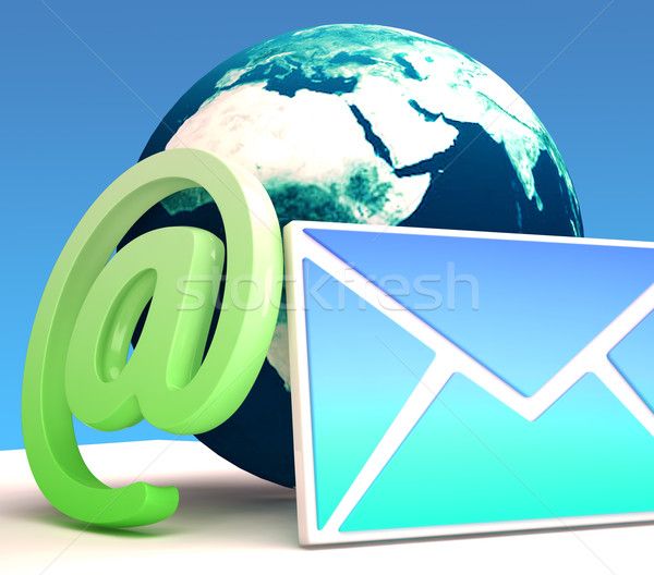 World Email Shows Contact Mailing Online Stock photo © stuartmiles