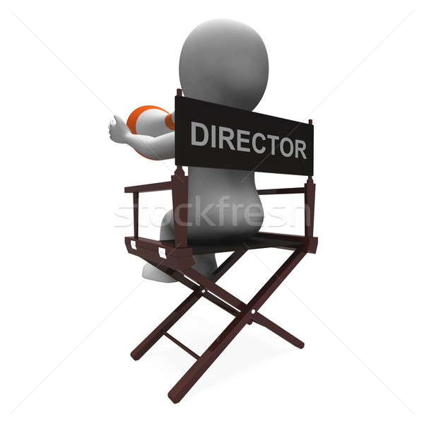 Director Character Shows Hollywood Movie Directors Or Filmmaker Stock photo © stuartmiles