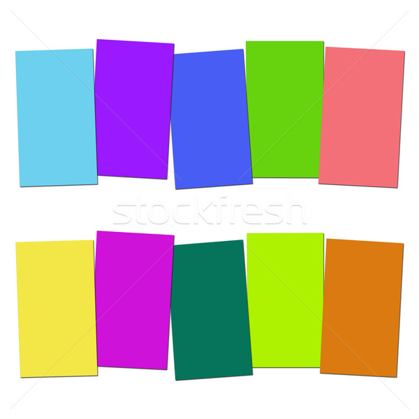 Five Blank Paper Slips Show Copyspace For 5 Letter Words Stock photo © stuartmiles