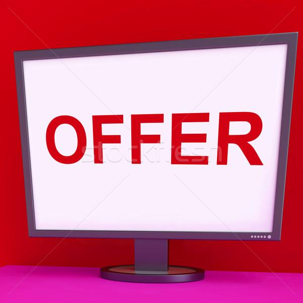 Ajánlat képernyő promóciós mutat Stock fotó © stuartmiles