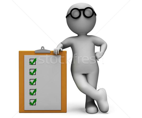 Liste presse-papiers test questionnaire pour faire la liste recherche Photo stock © stuartmiles