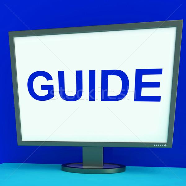 útmutató képernyő segítség útmutatás mutat háló Stock fotó © stuartmiles