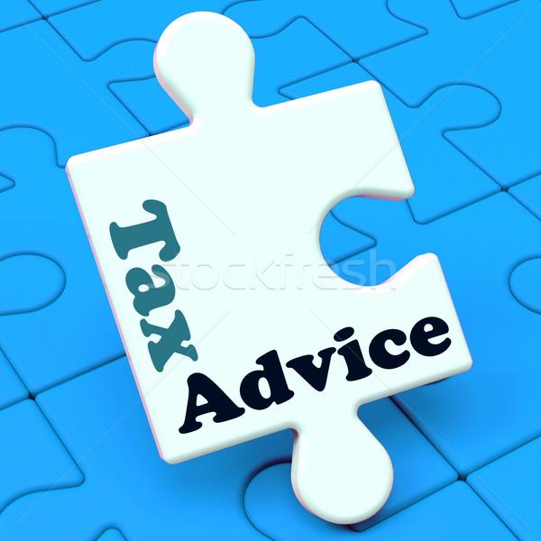 Adó tanács puzzle adóügy adóhatóság segítség Stock fotó © stuartmiles