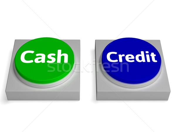 Pénz kredit gombok valuta kölcsön mutat Stock fotó © stuartmiles