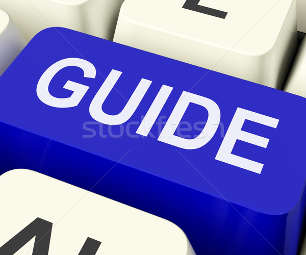 Guide Key Shows Leader Organizer Or Guidance Stock photo © stuartmiles
