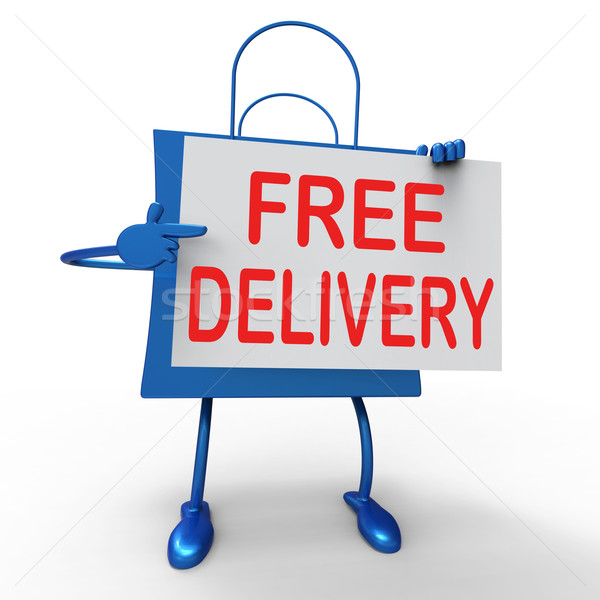 Free Delivery on Bag Shows No Charge  To Deliver Stock photo © stuartmiles