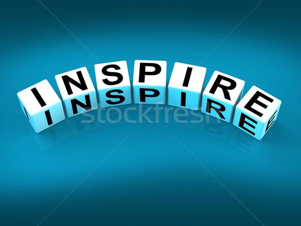 Ispirare blocchi show ispirazione motivazione Foto d'archivio © stuartmiles