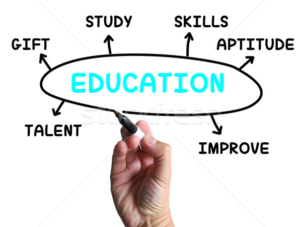 Education Diagram Shows Skills Study And Learning Stock photo © stuartmiles
