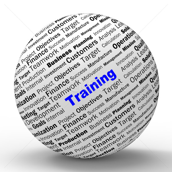 Training Sphere Definition Shows Instructing Or Education Stock photo © stuartmiles