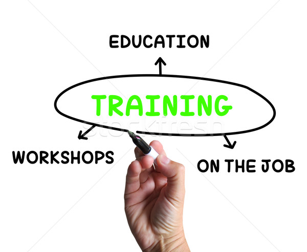 Training Diagram Shows Workshops Groundwork And Educating Stock photo © stuartmiles