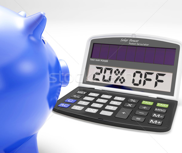 Twenty Percent Off Calculator Means Price Cut Stock photo © stuartmiles