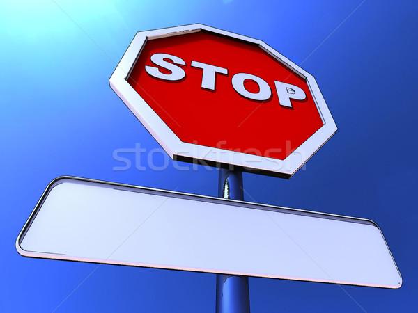 Сток-фото: знак · остановки · копия · пространства · сообщение · пространстве · красный · безопасности