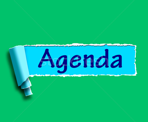 Agenda Word Means Online Schedule Or Timetable Stock photo © stuartmiles