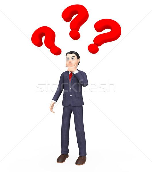думать ответ бизнесмен мышления часто Сток-фото © stuartmiles