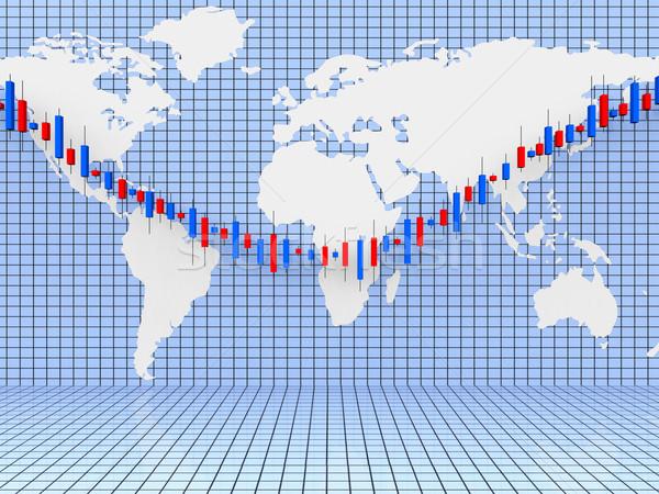Grafiek wereld breed diagram betekenis graphics Stockfoto © stuartmiles