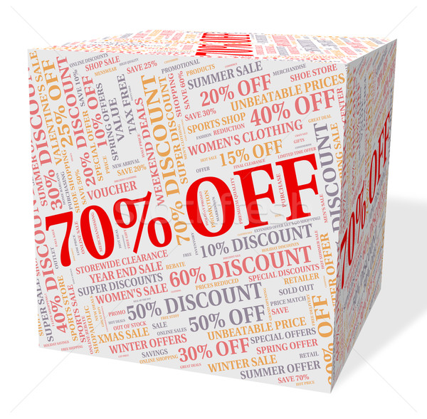 Seventy Percent Off Indicates Closeout Offers And Retail Stock photo © stuartmiles