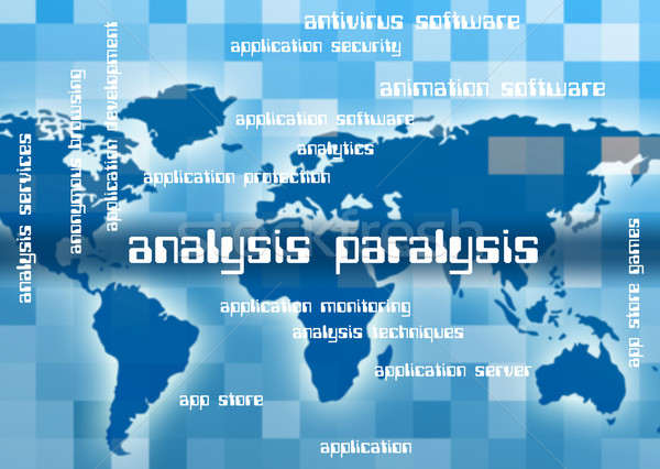 Analysis Paralysis Represents Analyze Investigate And Research Stock photo © stuartmiles