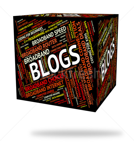 ブログ 言葉 ウェブサイト ブロガー ウェブサイト インターネット ストックフォト © stuartmiles