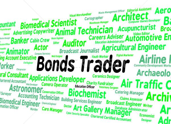 Kereskedő biztonság pozició vevő üzletember szöveg Stock fotó © stuartmiles