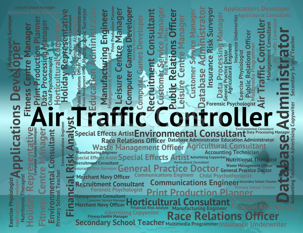 Air Traffic Controller Shows Atc Occupation And Work Stock photo © stuartmiles