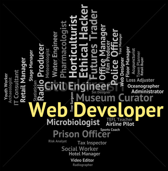 Web Developer Indicates Net Employment And Occupation Stock photo © stuartmiles