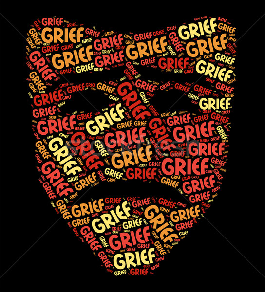 Grief Word Shows Broken Hearted And Anguish Stock photo © stuartmiles