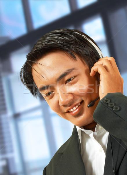 Customer Service Helpdesk Operator Talking To A Customer Stock photo © stuartmiles