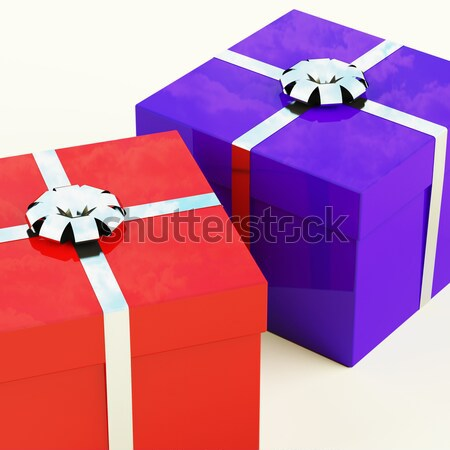 Multicolored Giftboxes   As Presents For The Family Or Friends Stock photo © stuartmiles