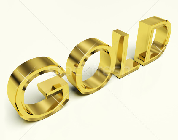 Gold Letters As Symbol For Wealth Or Riches Stock photo © stuartmiles
